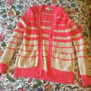 Forever 21 Pink & White Sweater